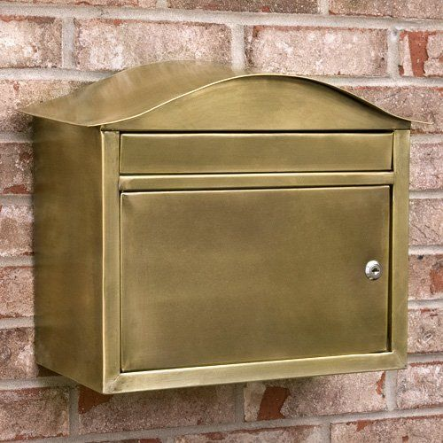 Kenton Locking Wall Mount Brass Mailbox Antique Brass By Maycreek 179 95 The Kenton Locking Wall Mou Wall Mount Mailbox Mounted Mailbox Signature Hardware