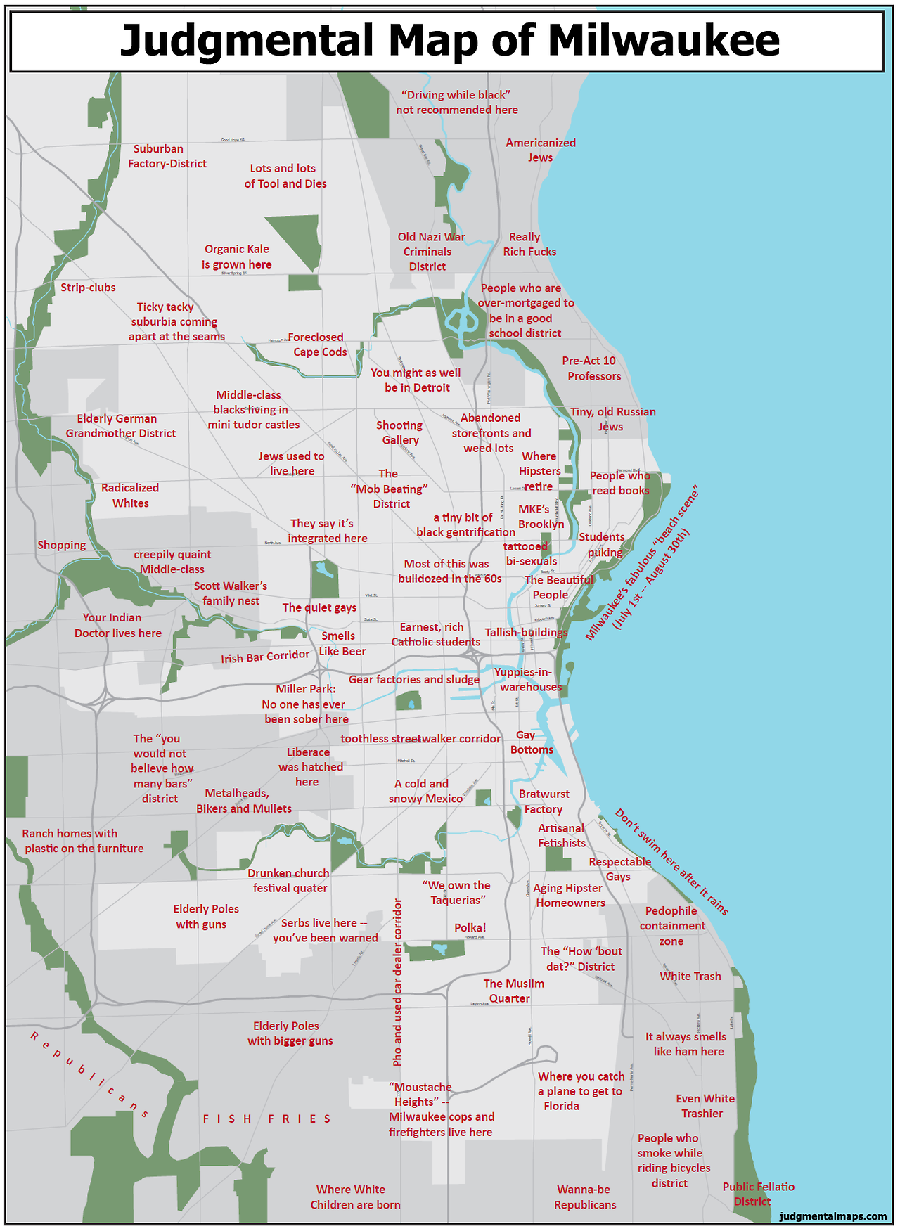 I Started Off In Students Puking Moved To Tallishbuildings - Chicago judgemental map