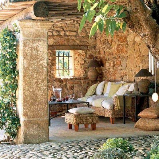 Porche de casa rural paisajes reconfortantes pinterest - Casas rurales en el campo ...