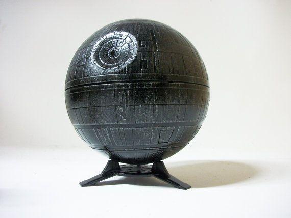 Star Wars Planetarium exclusive custom painted lamp death star galaxy moon projector on Etsy, $55.00
