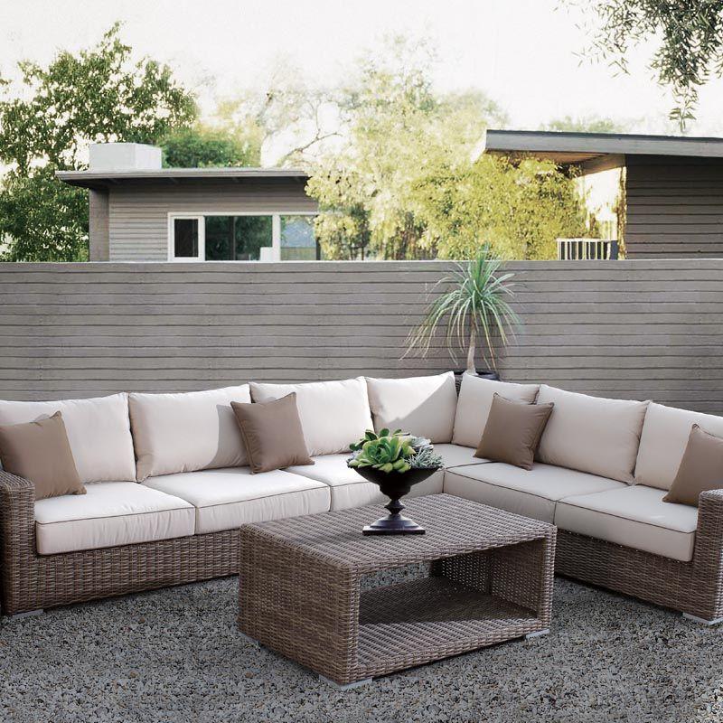 Sunset West Coronado Sectional Corner Chair Patio Furniture Sets