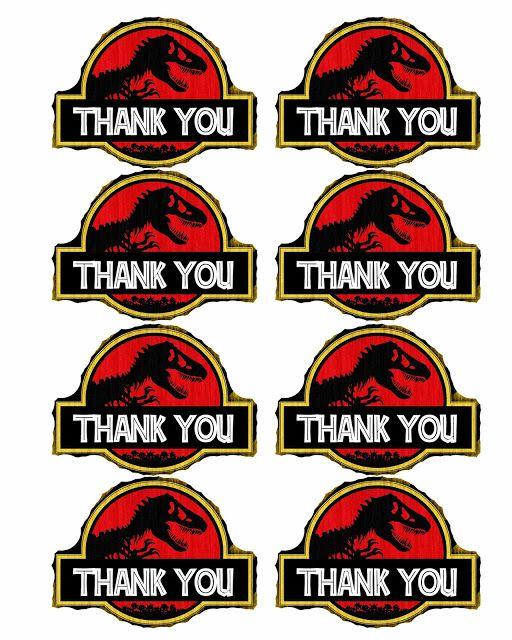 Free dinosaur Jurrasic Park party printables Boys birthday party