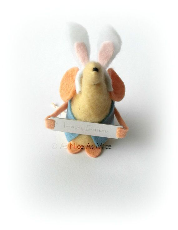 Easter Bunny Mouse Easter decoration or gift comes by AsNiceAsMice