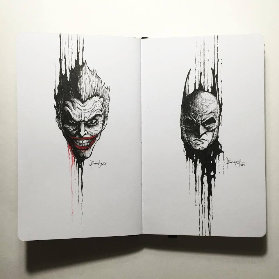 The Joke And The Bat Kerby Rosanes Arlequina E Coringa