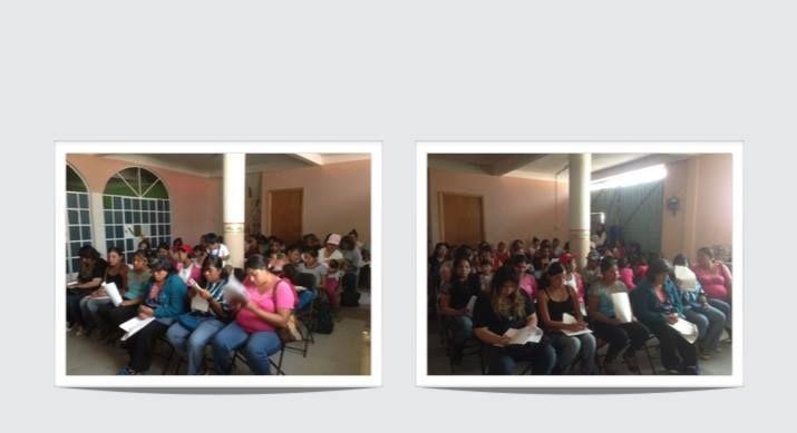 Capacitación de mujeres en Chilmahuacan.