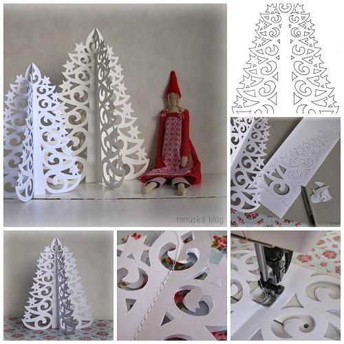 Wonderful diy 3d paper christmas tree diy paper for How to make paper christmas decorations at home