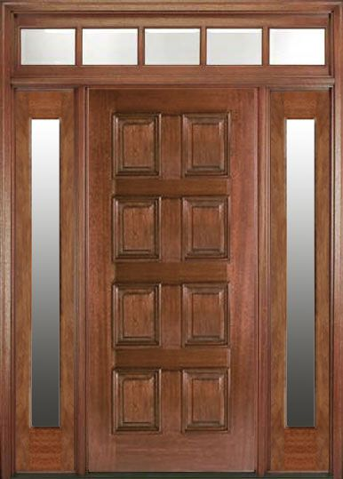 Mansion Park 8 Panel Exterior Mahogany Wood Entry Door Wood Entry Doors Door Design Solid Wood Doors Exterior