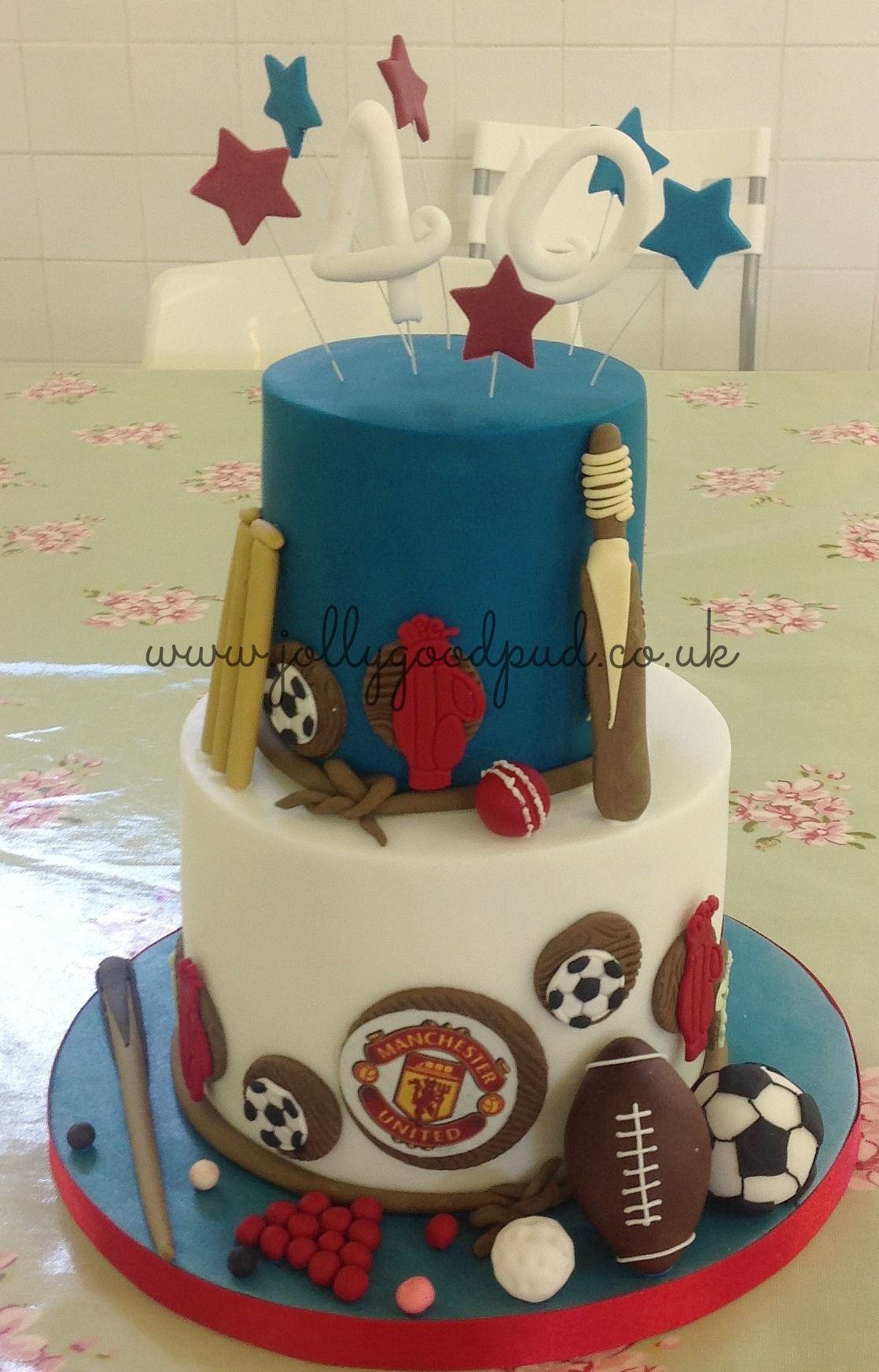 Sporty Mans Birthday Cake From The Jolly Good Pud Company Www