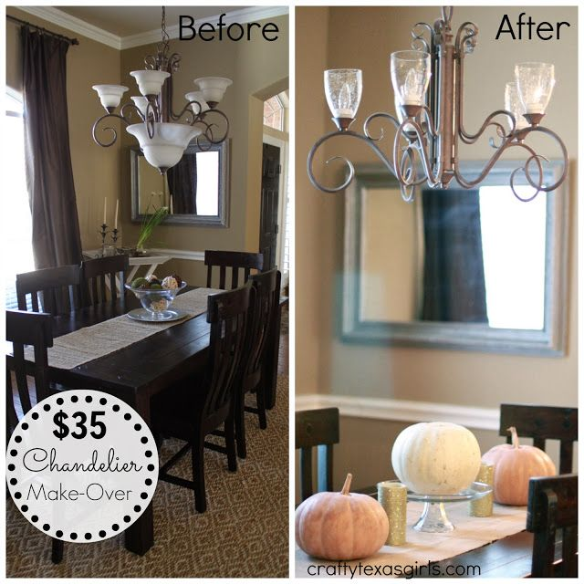 Simple Updates To Transform Your: Easy Update To A Chandelier-- Change Out The Shades. This