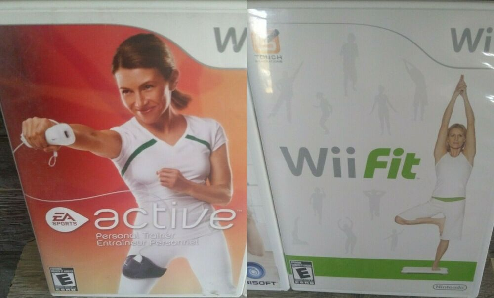 2 nintendo wii workout video games wii active and wii fit