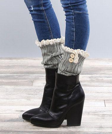 Look at this #zulilyfind! Gray Boot Cuffs #zulilyfinds  I like the boots!!