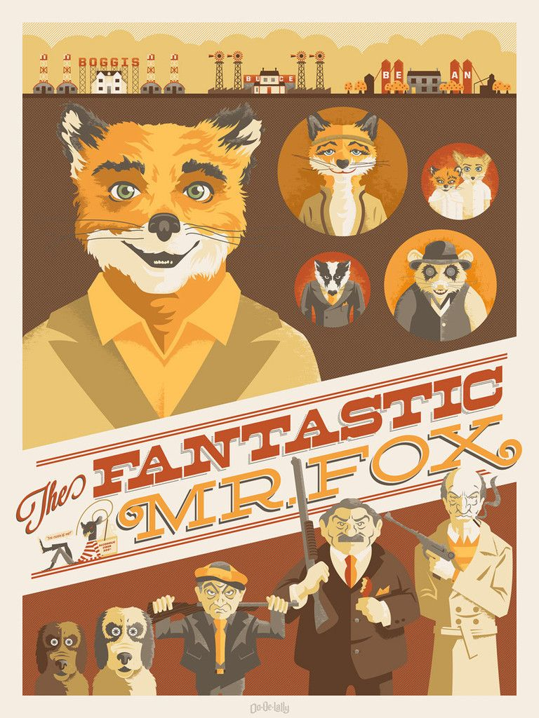 fantastic mr fox fox poster wes