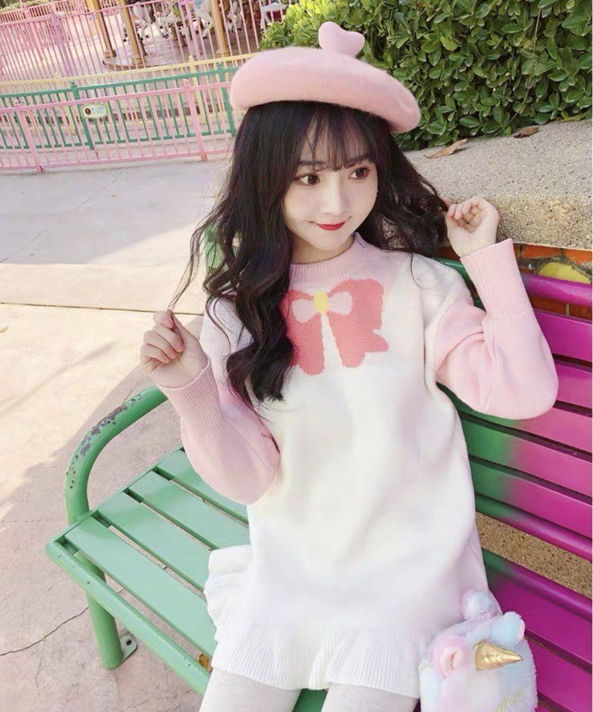 Cute anime sweater kawaii fashion kawaii clothes sweaters