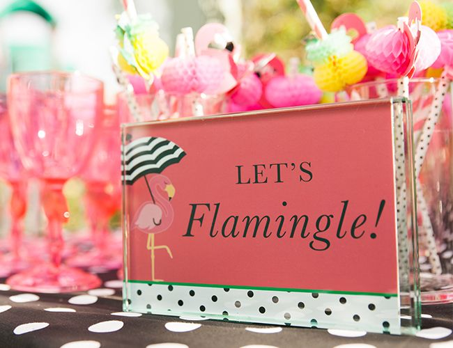 Get Your Party On Kate Spade Pink Flamingo Shower Amy Is The
