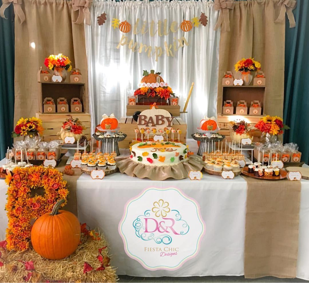 Fall Baby Shower Fall Dessert Table Little Pumpkin Baby Shower