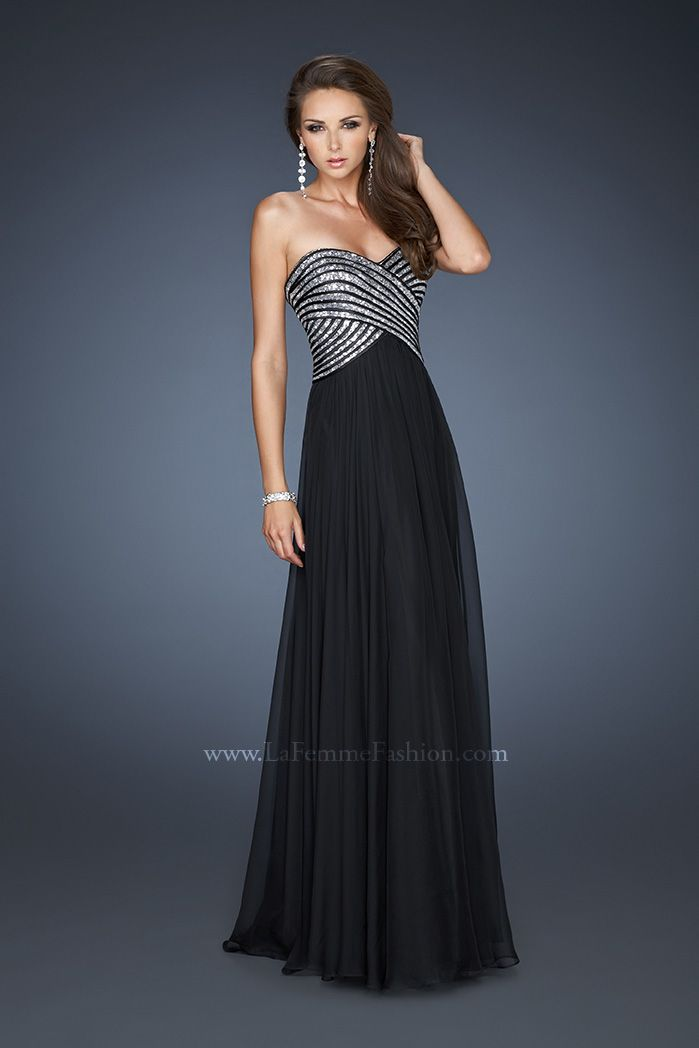 This LaFemme Dress & other Long Prom Dresses at Bridal & Formal by RJS 615-522-0201 Low price guarantee.