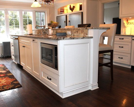 How To Install Microwave Under Kitchen Counter Eat Well 101 Kitchen Island With Sink Kitchen Island Design Kitchen Remodeling Projects