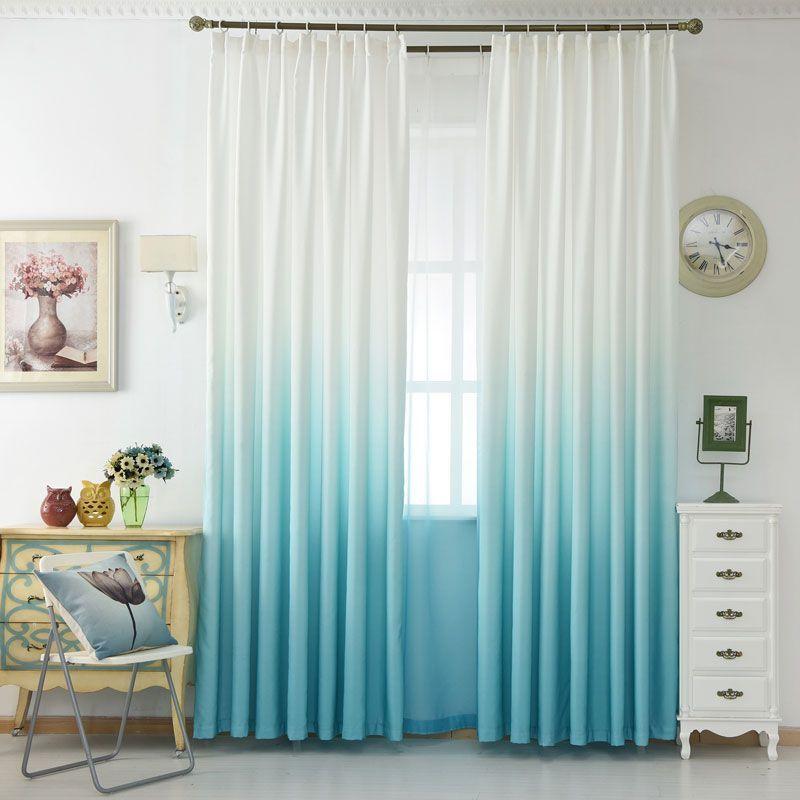 pas cher bleu fenetre rideau salon 3d