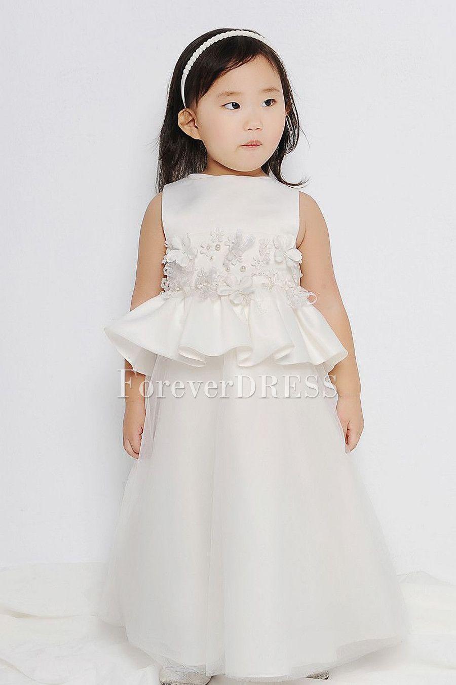 White flower girl dress flower girl u junior bridesmaid