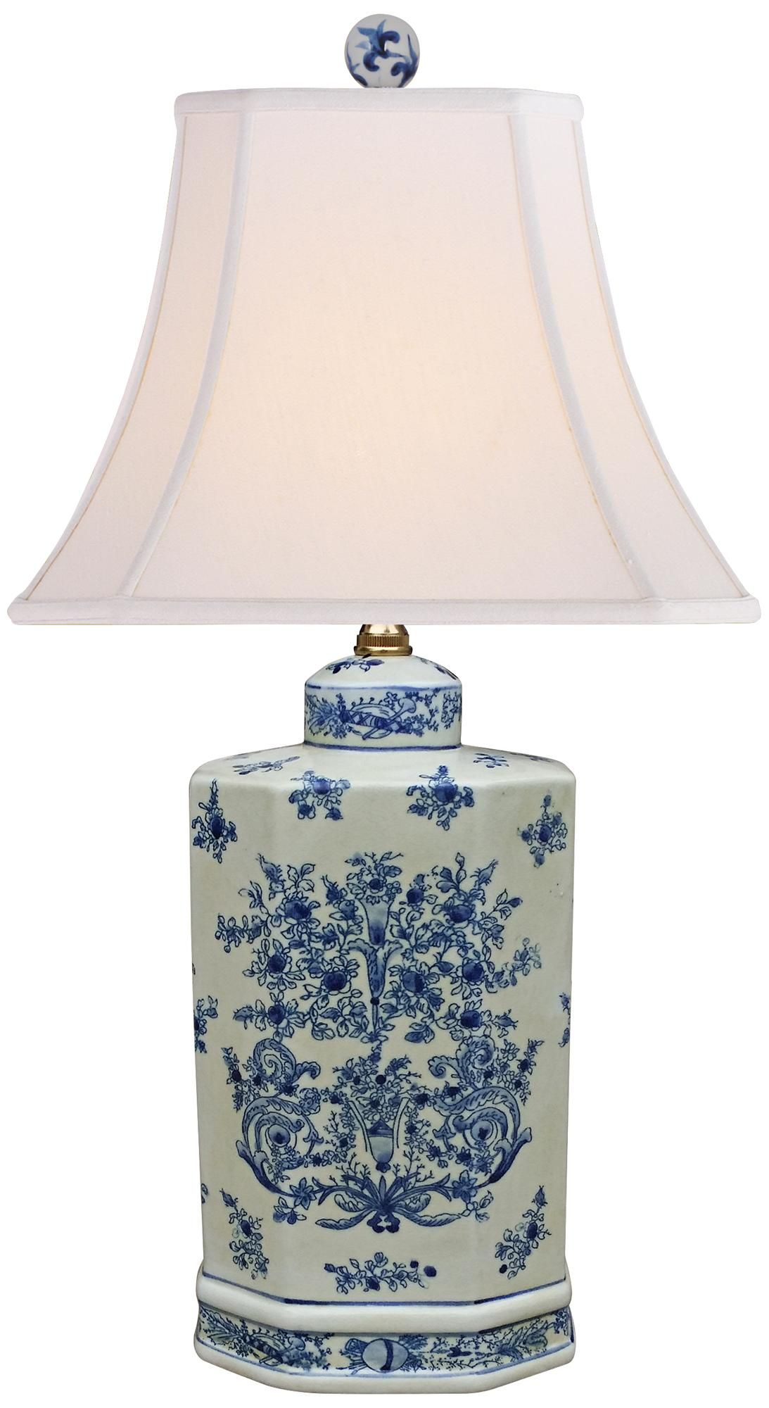 Calvinshire Blue And White Porcelain Table Lamp 9m004 Lamps Plus Lamp Jar Table Lamp Blue Table Lamp