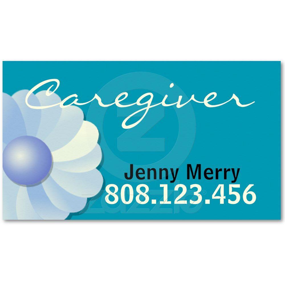 Blue Caregiver Business Card template | Pinterest