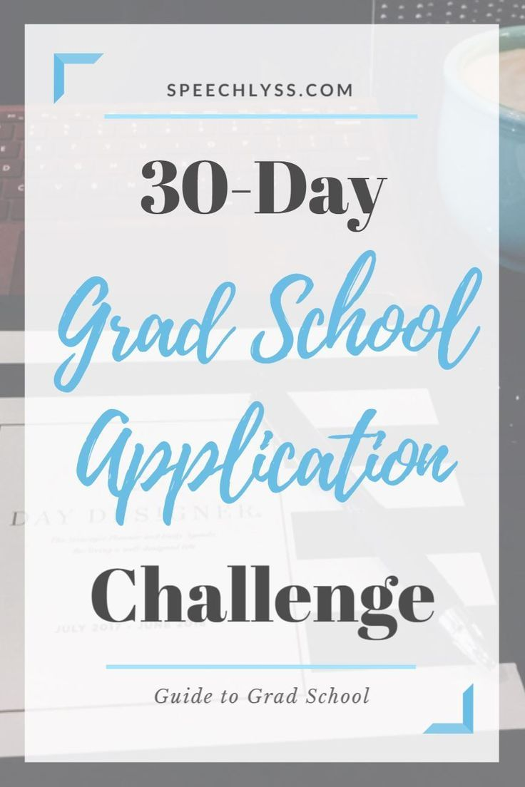 30Day Grad School Application Challenge - School application, Grad school, Post grad life, School, School help, Scholarships for college - Get organized with free templates, checklists, and guidance as you complete each step of the grad school application process in just 30 days