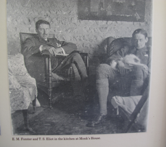 Em Forster And Ts Eliot In The Kitchen At Monks House