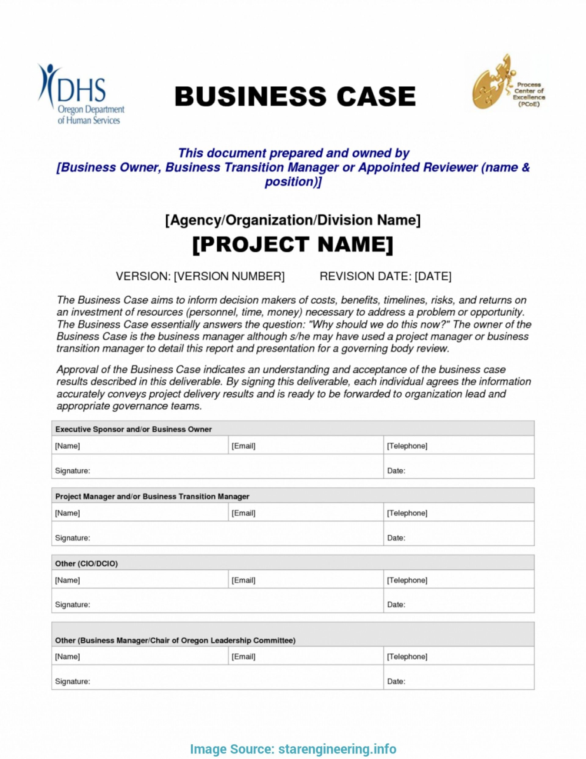 Download New Business Case Template Doc Can Save At New