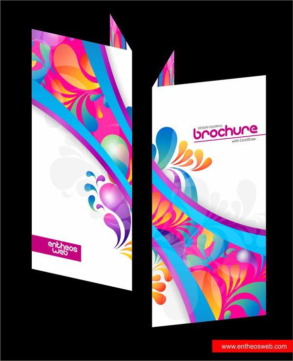 Colorful Brochure Design In Coreldraw Corel Draw Tutorial Brochure Design Creative Coreldraw