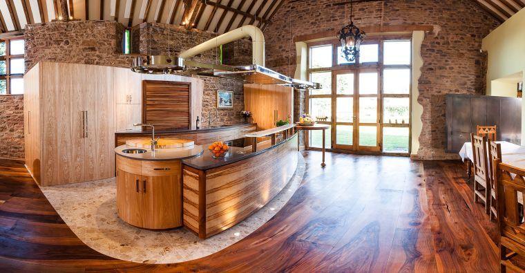 Deko-Stein für die Wände der Küche in 49 Beispielen Küchen 2018 - wandfarbe wohnzimmer beispiele