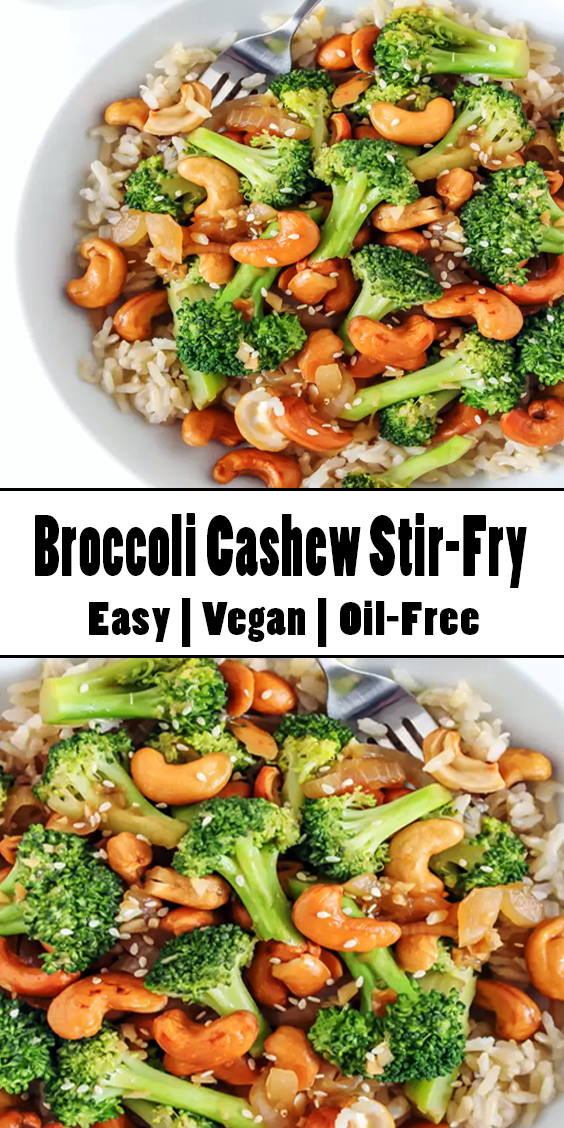 Photo of Broccoli Cashew Stir-Fry Easy Salad Recipe