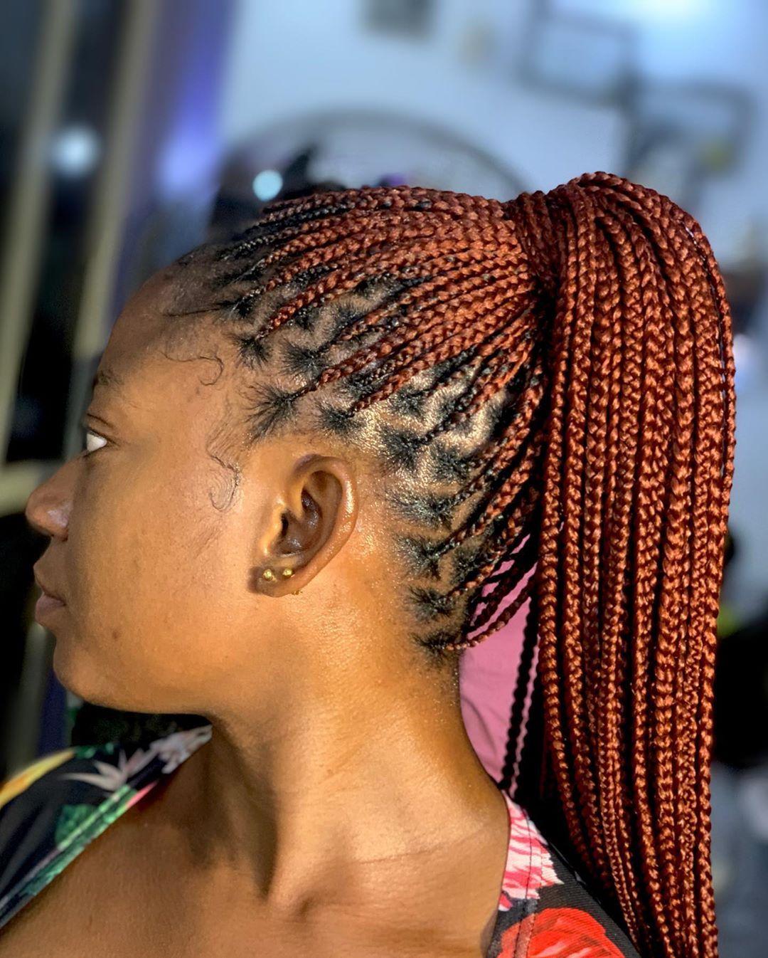 Giwa Oluwafunke On Instagram Knotless Braids In 350 Hair Installed For Faymous Feed In Braids Hairstyles Braided Hairstyles Braided Hairstyles For Teens