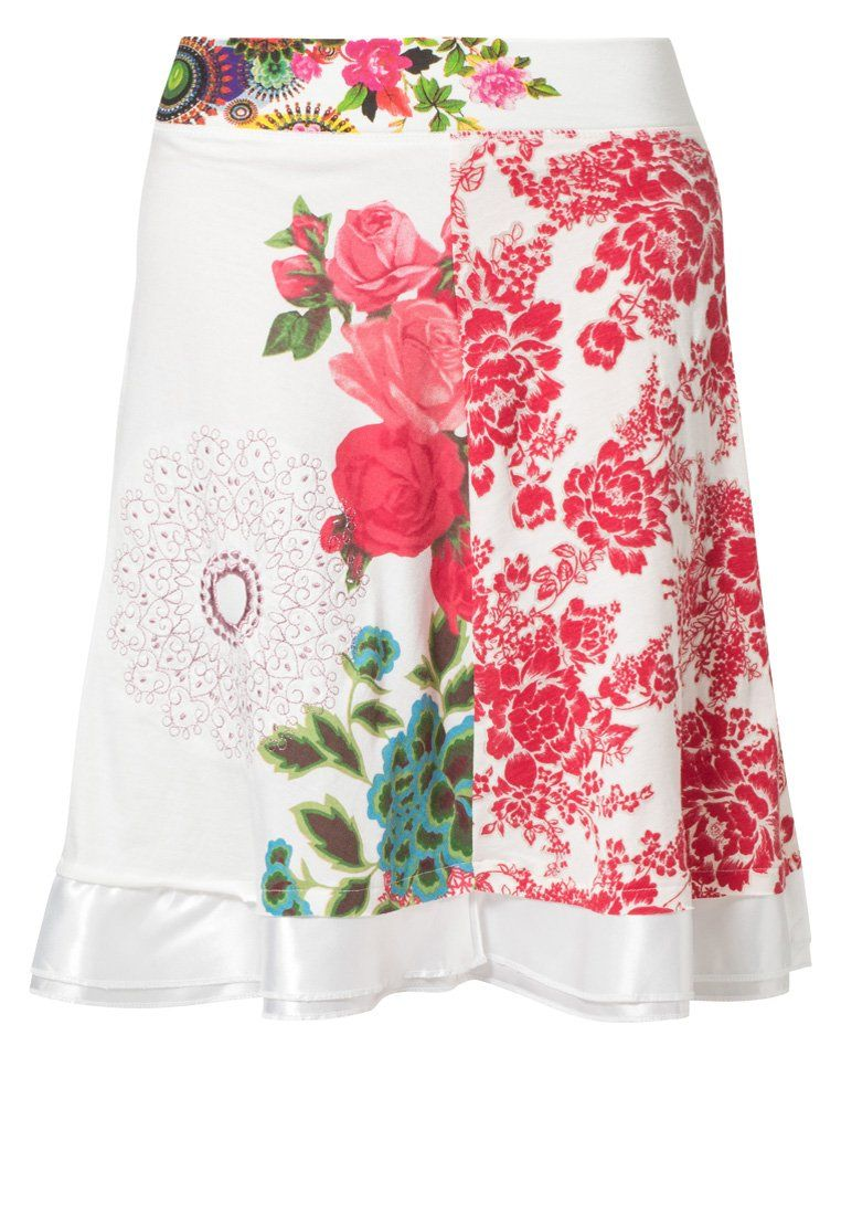 Desigual A lijn rok Wit | Fashion, Skirts, Skirt fashion