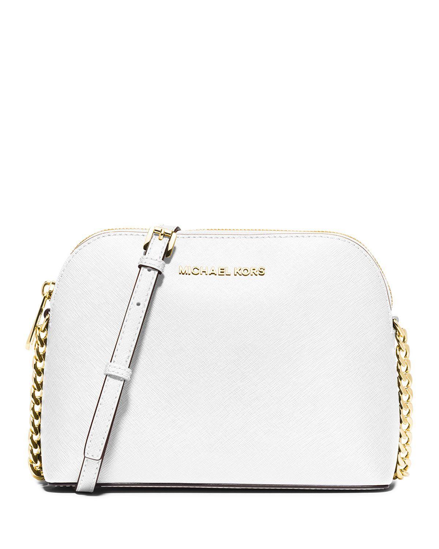 0d72eff02283e9 MICHAEL Michael Kors Cindy Large Dome Crossbody Bag, Optic White ...