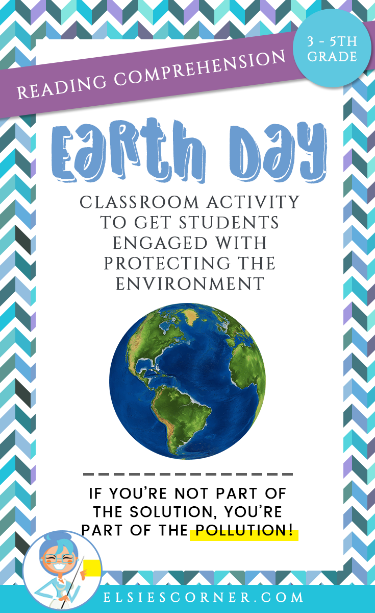 Earth Day Reading Comprehension Informational Text Questions
