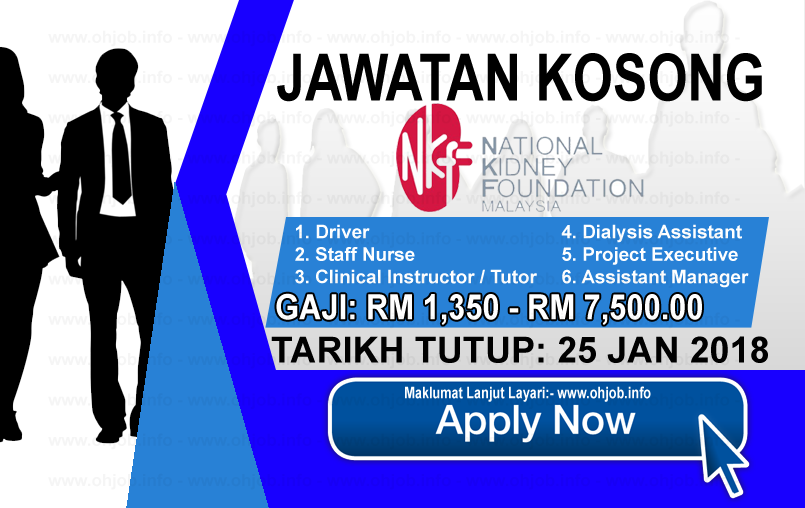 Jawatan Kosong Yayasan Buah Pinggang Kebangsaan Malaysia Nkf 25 Januari 2018 National Kidney Foundation Online University Tutor