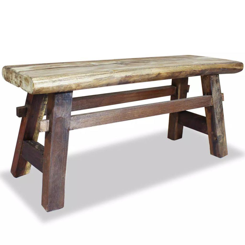 vidaXL Bench Solid Reclaimed Wood 39.4