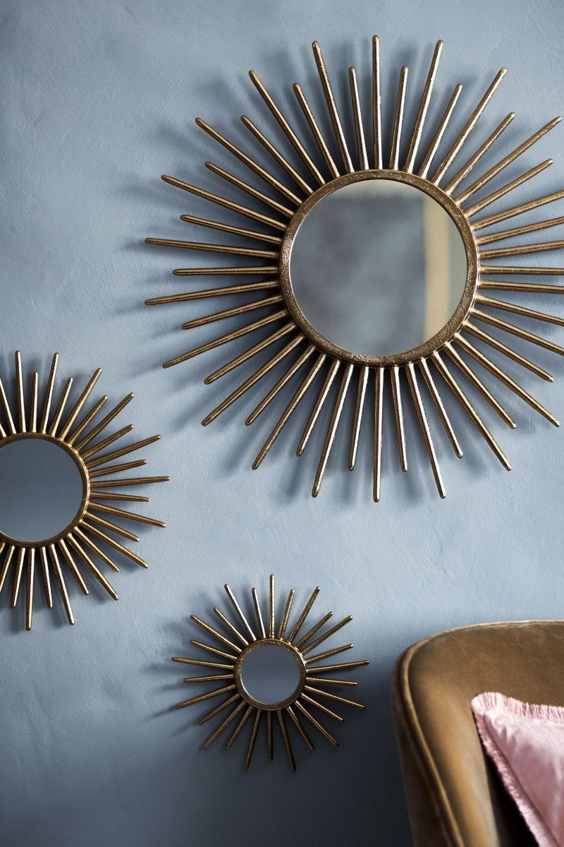 Round Mirror Gold Colored H M Home H M Us Runde Spiegel Spiegel Design Bilderrahmen Gold