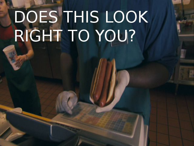 Two Hotdogs One Bun Does This Look Right To You Movie Quotes Funny Blades Of Glory Funny Pictures