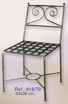 Silla de forja silla forja muebles hierro forjado - Muebles de hierro forjado ...