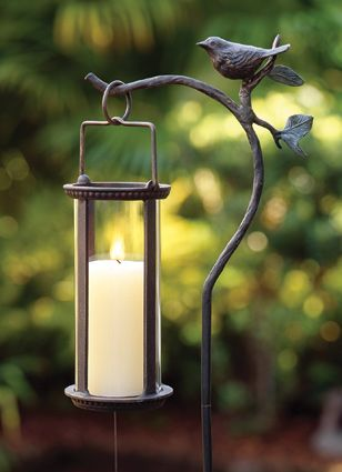 Bird Lantern Stake | Candle Holders | Charleston Gardens ...
