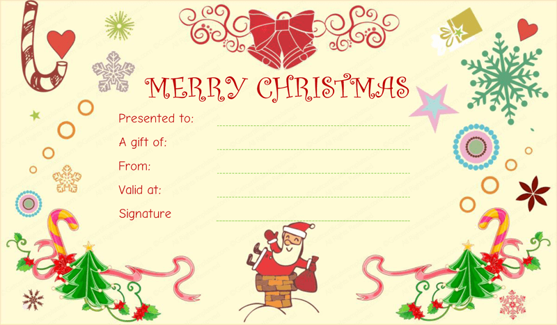 Christmas Certificates Templates For Word Gift Card Template Word Christmas Fun Gift Certificate Template .