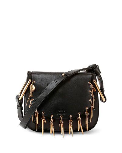 d8a8e952d2 V2M0L Chloe Hudson Mini Charm Shoulder Bag, Black | Fashion | Chloe ...