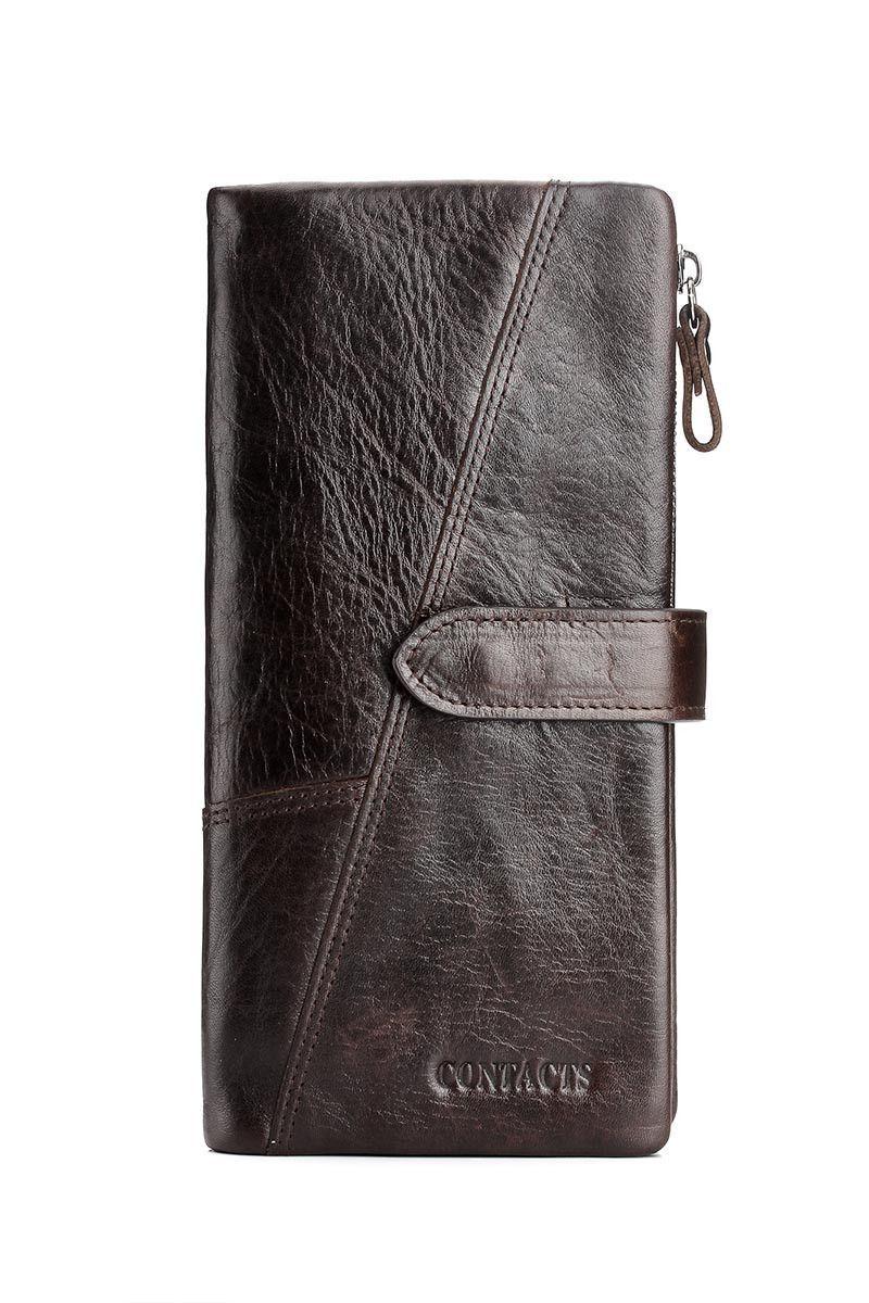 Genuine Leather Unisex Clutch Color Black