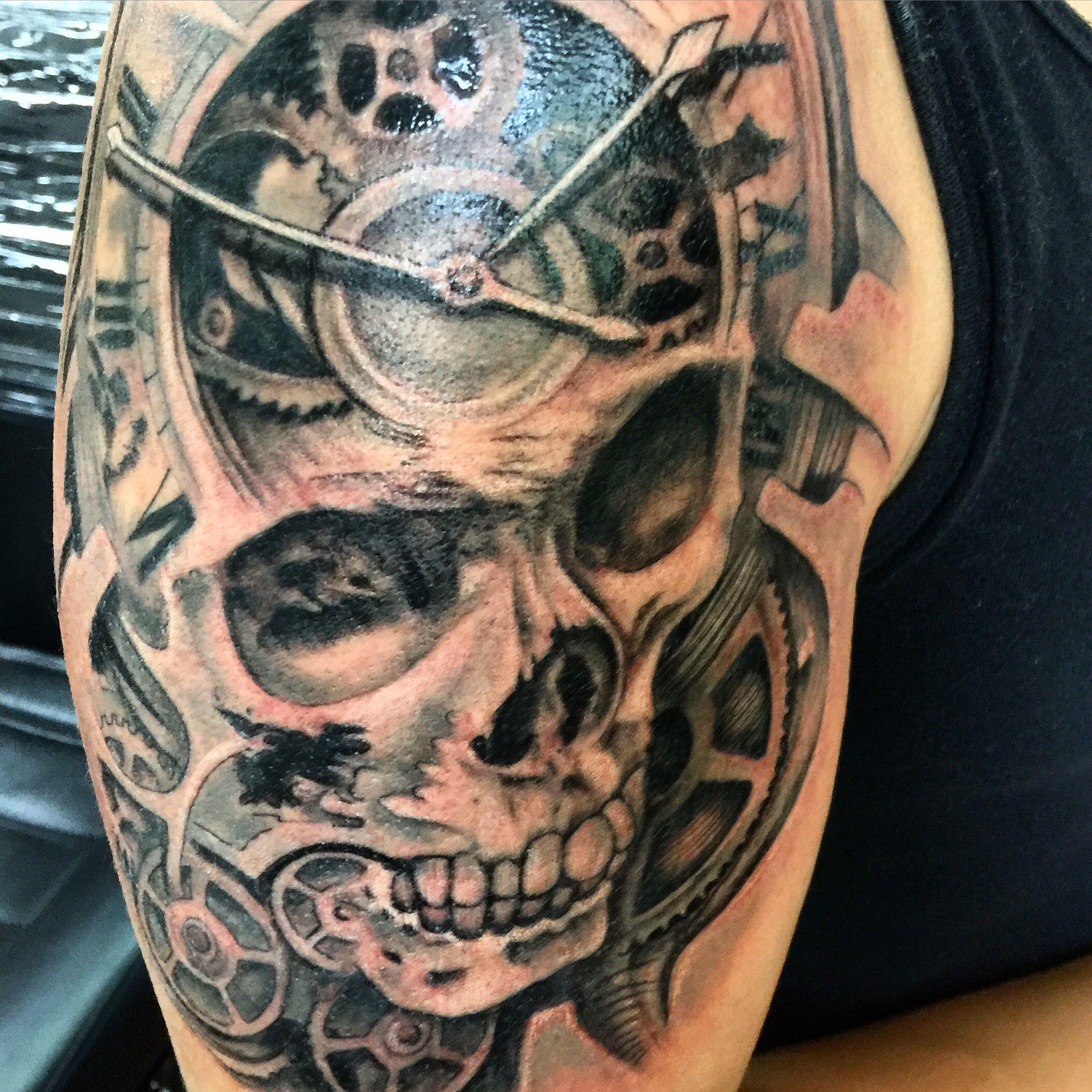 Cráneos Calaveras Relojes Tatuajes En Sombra Osvaldo Castillo Df