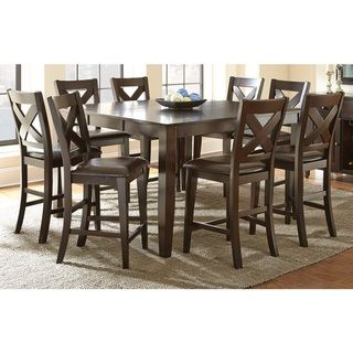 Gentil Copley Solid Wood Counter Height Dining Set With Self Storing Leaf |  Overstock.com Shopping