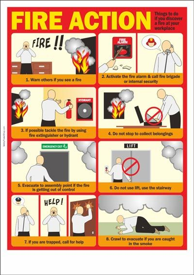 Workplace Printable Fire Safety Poster