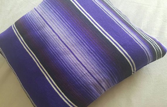 Purple Ombre Serape Mexican Blanket Pillow. $25 at GalloAndHen Etsy ...