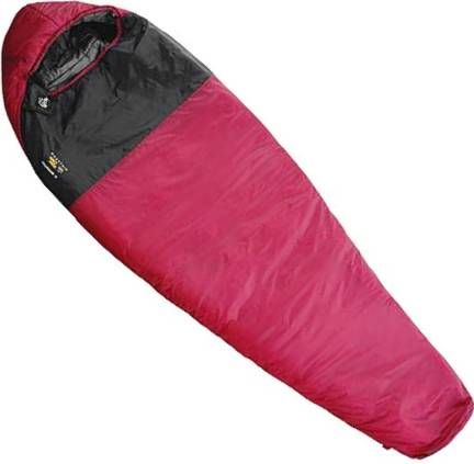 Mountain Hardwear X-country sleeping bag....lightest (1lb,14oz), and smallest-packing 35 degree synthetic bag out there.