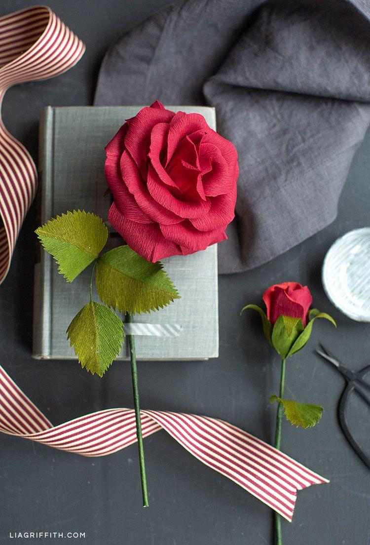Live Tutorial Crepe Paper Ruby Rose Crepe Paper Flowers